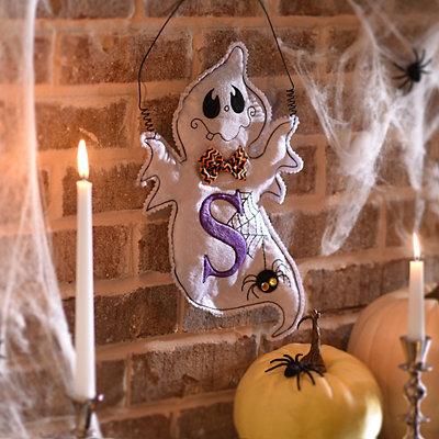 Spooky Ghost Monogram S Wall Hanger