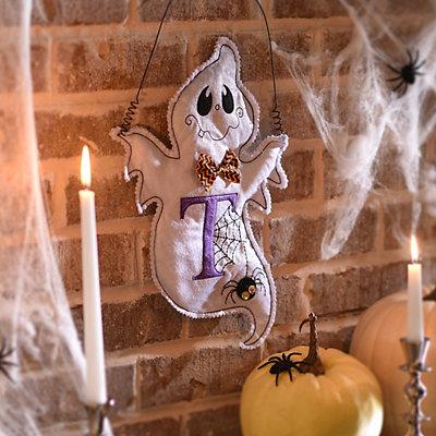 Spooky Ghost Monogram T Wall Hanger