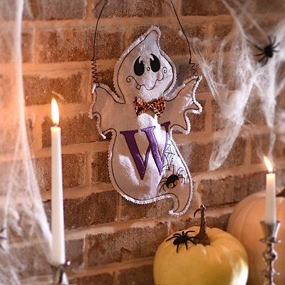 Spooky Ghost Monogram W Wall Hanger