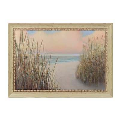 Seaside Beach Trail Framed Art Print