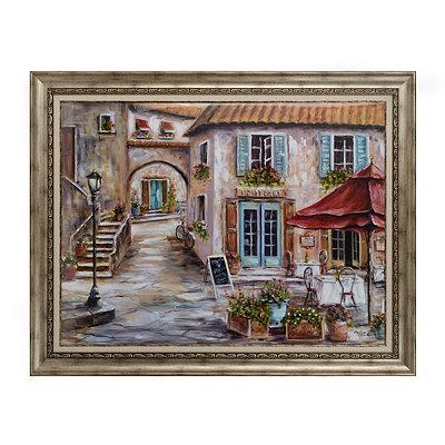 Cobblestone Corner Framed Art Print