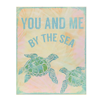 Sea Turtle You And Me Wooden Plaque