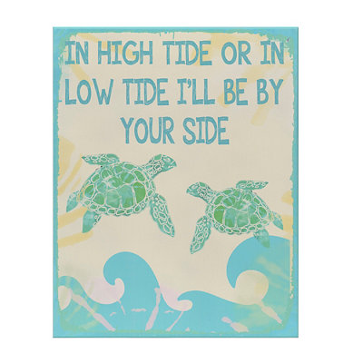 Sea Turtle By Your Side Wooden Plaque