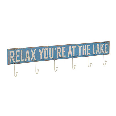 Relax You're At The Lake Wall Hook