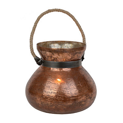 Malta Distressed Copper Lantern