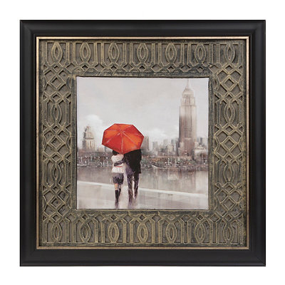 Rainy Day in London Framed Art Print