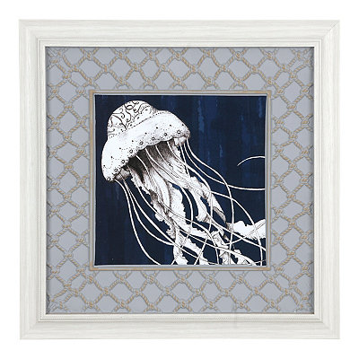 Blue Jellyfish Framed Art Print