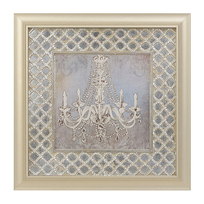 Crystal Chandelier II Framed Art Print