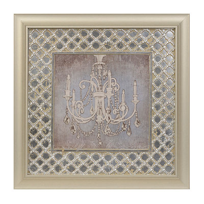 Crystal Chandelier I Framed Art Print