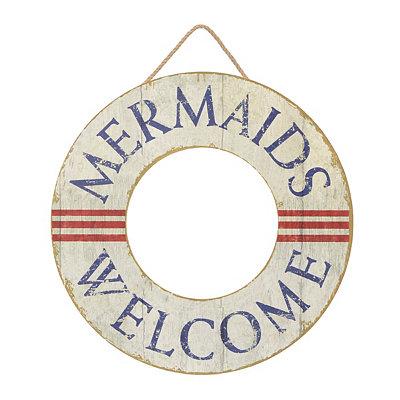 Mermaids Welcome Wooden Plaque