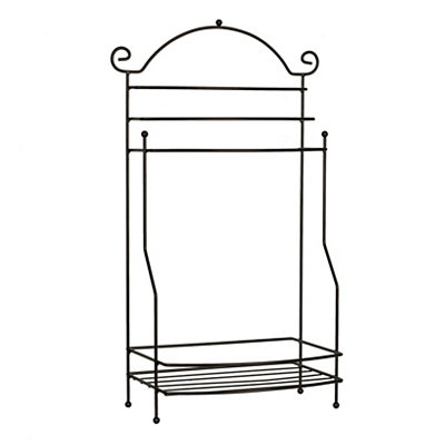 Bronze Scroll Floor Towel Rack