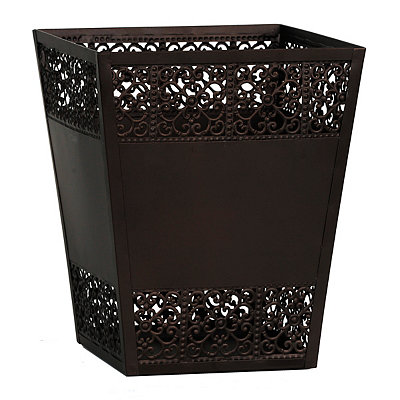 Bronze Scroll Waste Basket