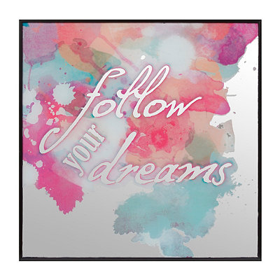 Follow Your Dreams Watercolor Mirror Plaque