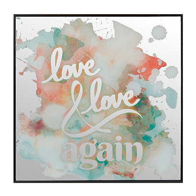 Love Again Watercolor Mirror Plaque