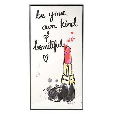 Own Kind of Beautiful Lipstick Mirror Plaque