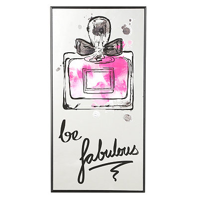 Be Fabulous Perfume Mirror Plaque