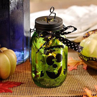 Frankenstein Green Mercury Glass Lantern