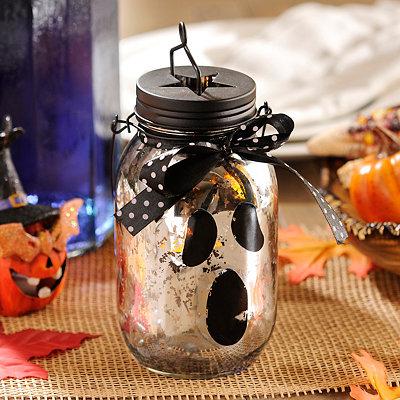 Ghost Silver Mercury Glass Lantern