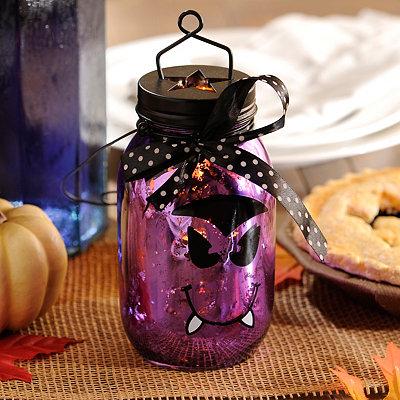 Vampire Purple Mercury Glass Lantern