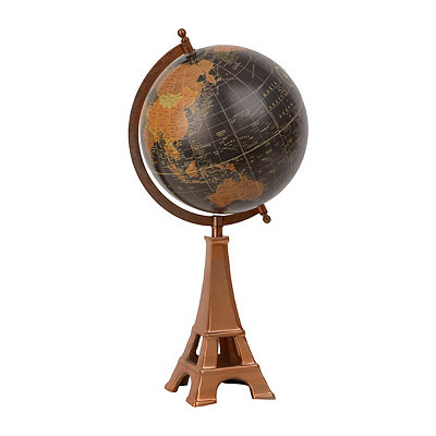 Copper Eiffel Tower Globe