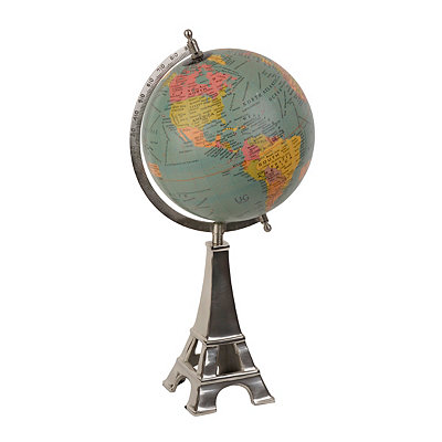 Silver Eiffel Tower Globe