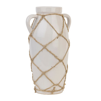 White Netted Ceramic Vase