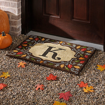 Monogram K Harvest Leaf Doormat