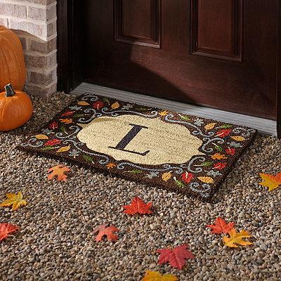Monogram L Harvest Leaf Doormat