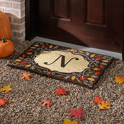 Monogram N Harvest Leaf Doormat