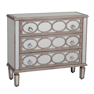 Driftwood Mirrored 3-Drawer Chest
