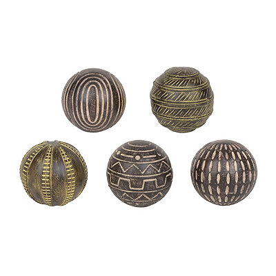 Aztec Orbs, Set of 5