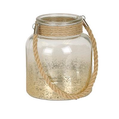 Gold Mercury Glass Lantern