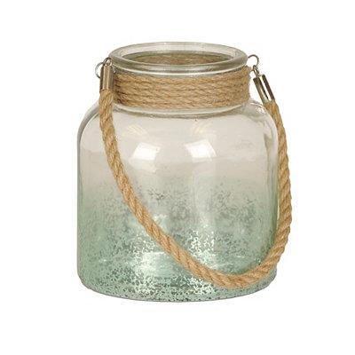 Turquoise Mercury Glass Lantern