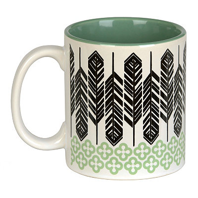 Green Feathers Mug