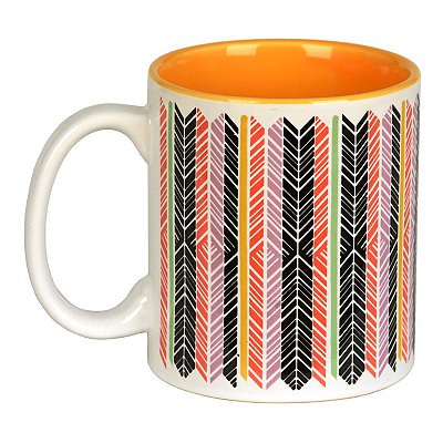 Feather Stripes Mug