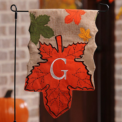 Monogram G Harvest Leaf Flag