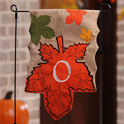Monogram O Harvest Leaf Flag