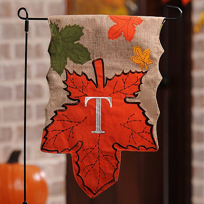 Monogram T Harvest Leaf Flag