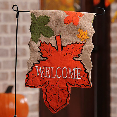 Harvest Leaf Welcome Flag