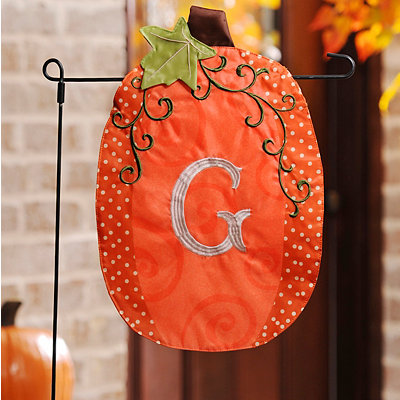 Stitched Monogram G Pumpkin Flag
