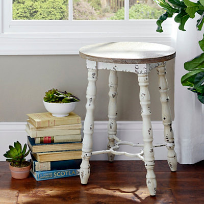 Distressed Cream Cottage Spindle Barstool