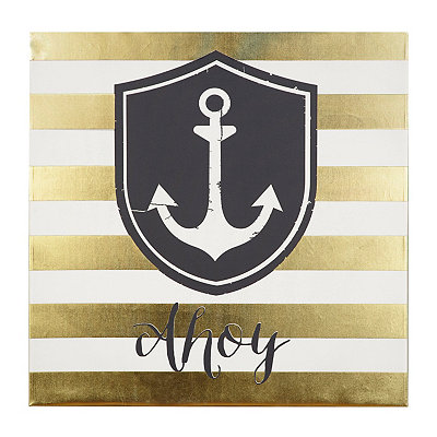 Ahoy Anchor Canvas Art Print