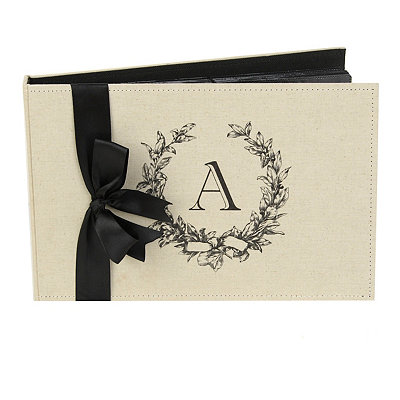 Monogram A Linen Photo Album