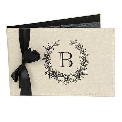 Monogram B Linen Photo Album