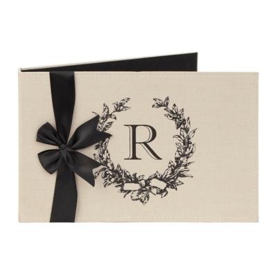 Monogram R Linen Photo Album