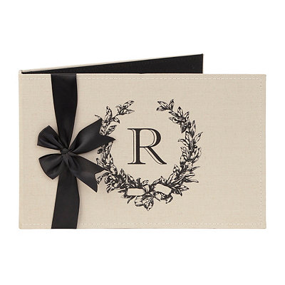 Monogram R Linen Photo Album