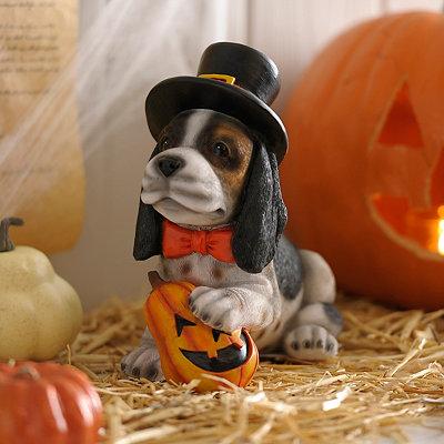Halloween Beagle Puppy Statue