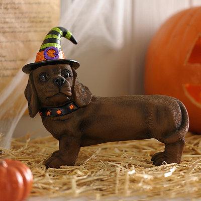 Halloween Dachshund Puppy Statue