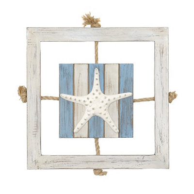 Starfish Knotted Rope Wooden Plaque
