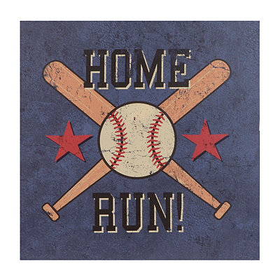 Baseball Home Run Canvas Art Print
